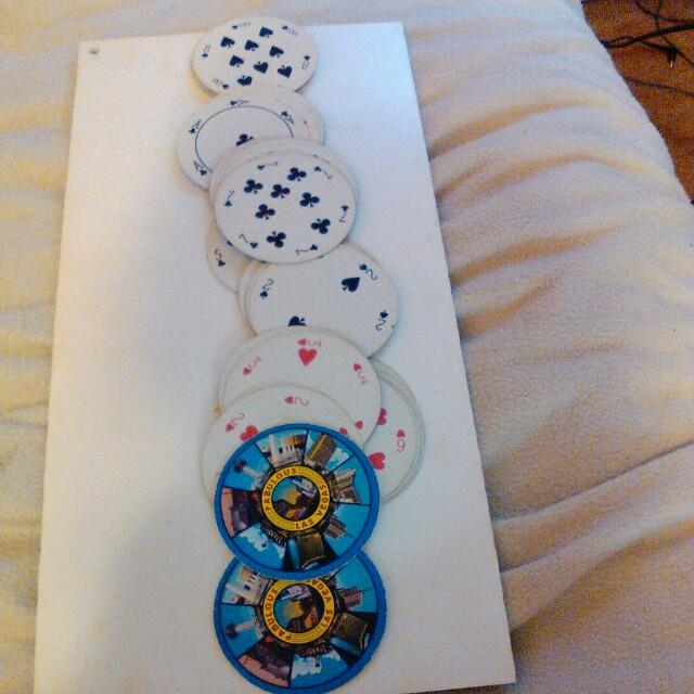 Circular playing cards
