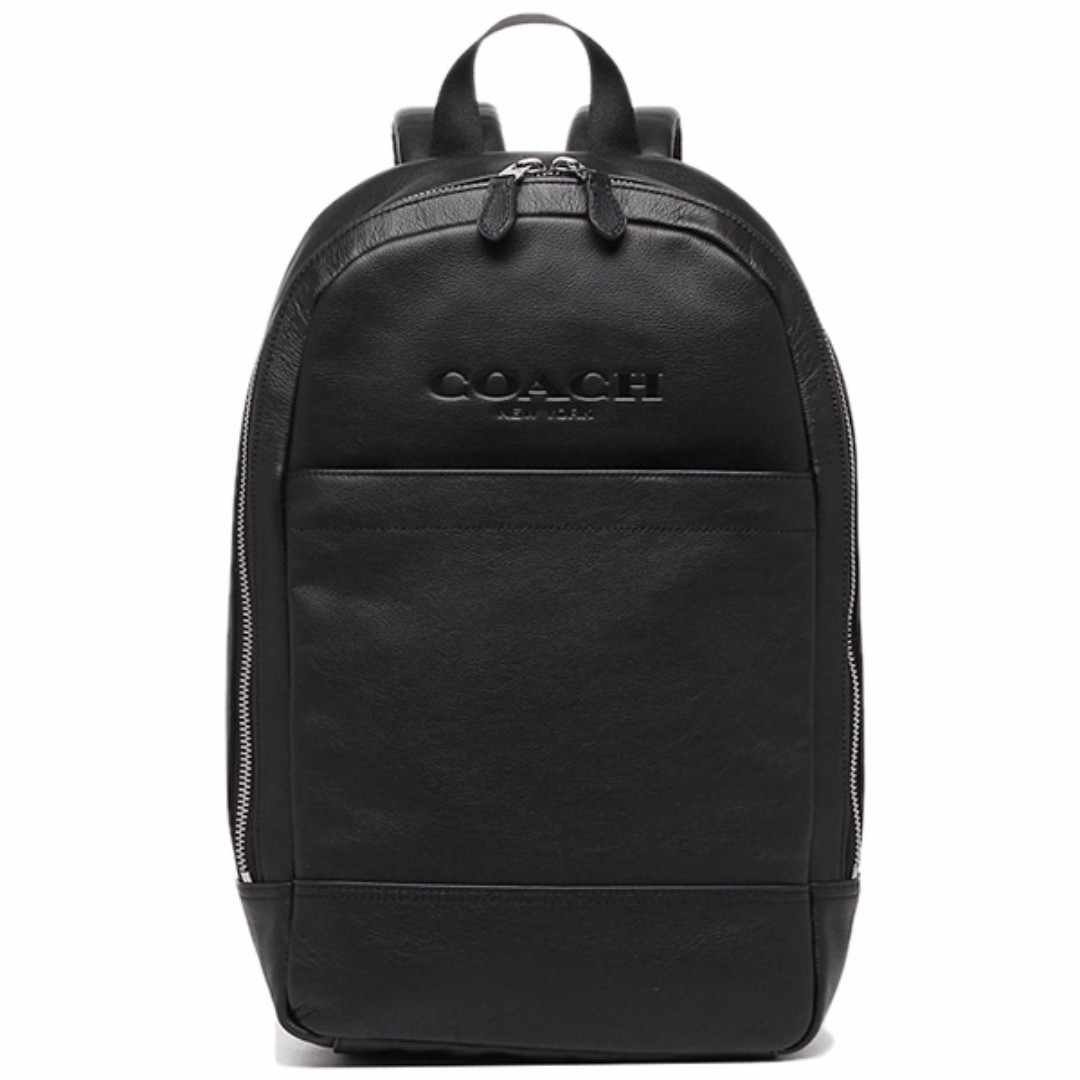 437c346b4361 ... netherlands coach mens charles slim backpack in sport calf leather  black f54135 mens fashion bags wallets