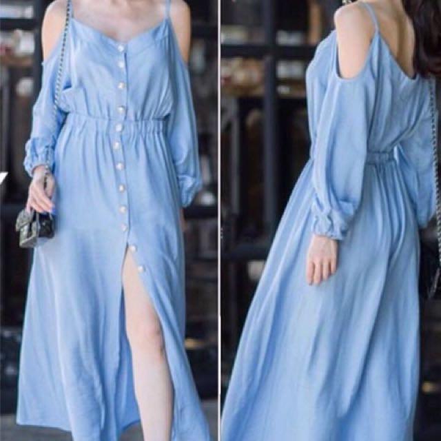 Coldshoulder Maxi dress