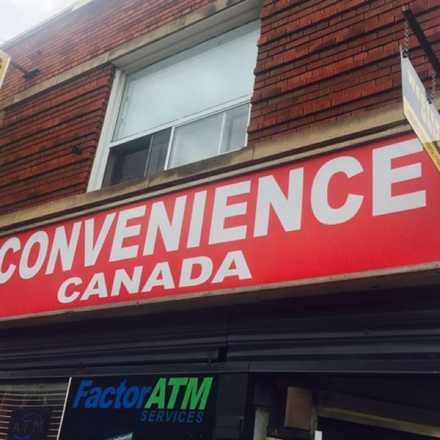Convenience Canada lighted sign