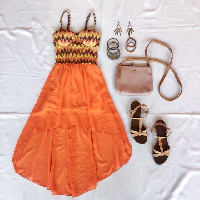 Corset longback dress