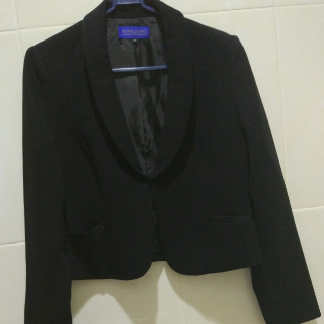 Crop Blazer Black