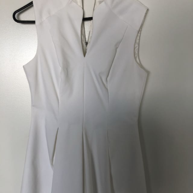 Cue white dress size 10 brand new