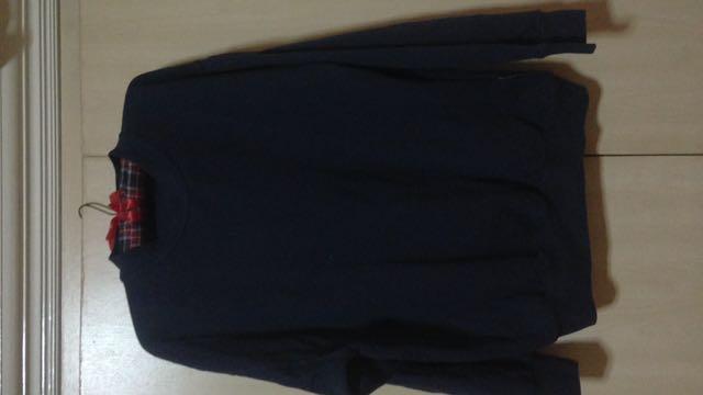 Dark Blue Oversized Sweater