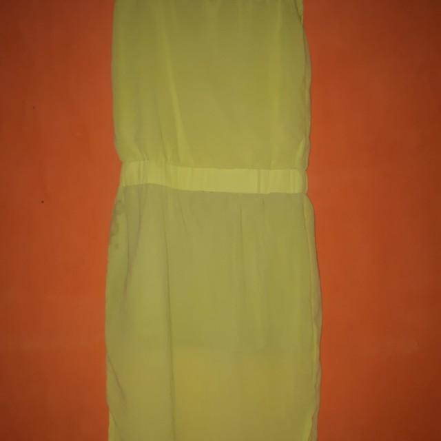 Dress kuning stabilo
