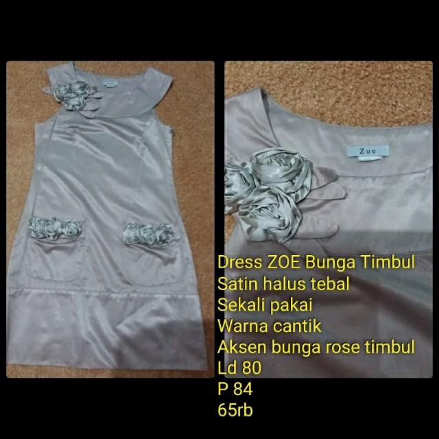 Dress ZOE Bunga Timbul