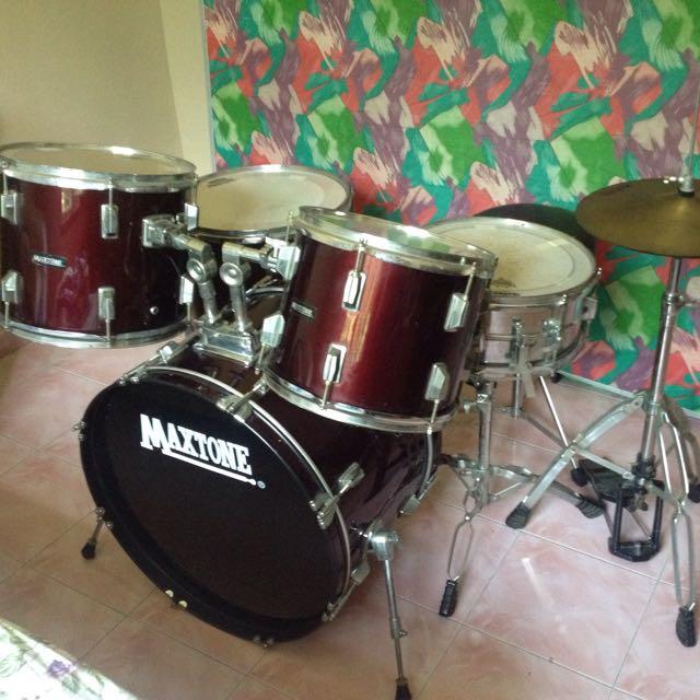 Drum Set Maxtone Music Media Music Instruments On Carousell