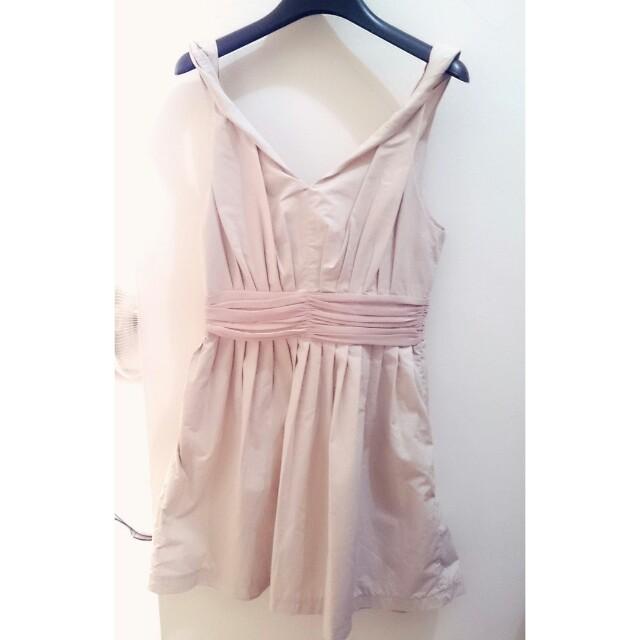 專櫃Ecode.e全新香檳粉氣質洋裝