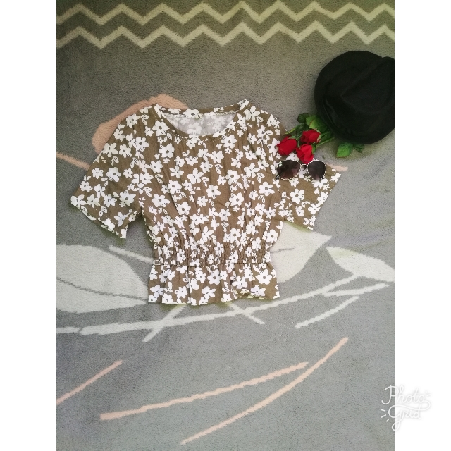 Floral Crop Top (small)