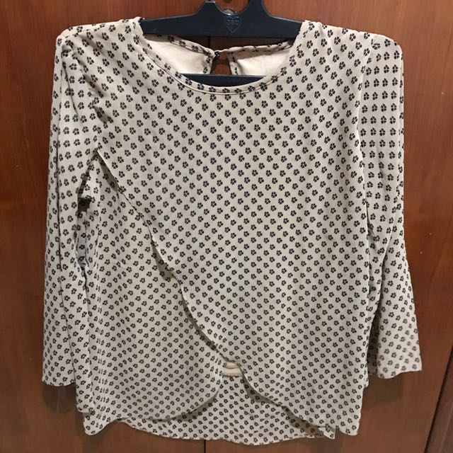 Flower Brown blouse