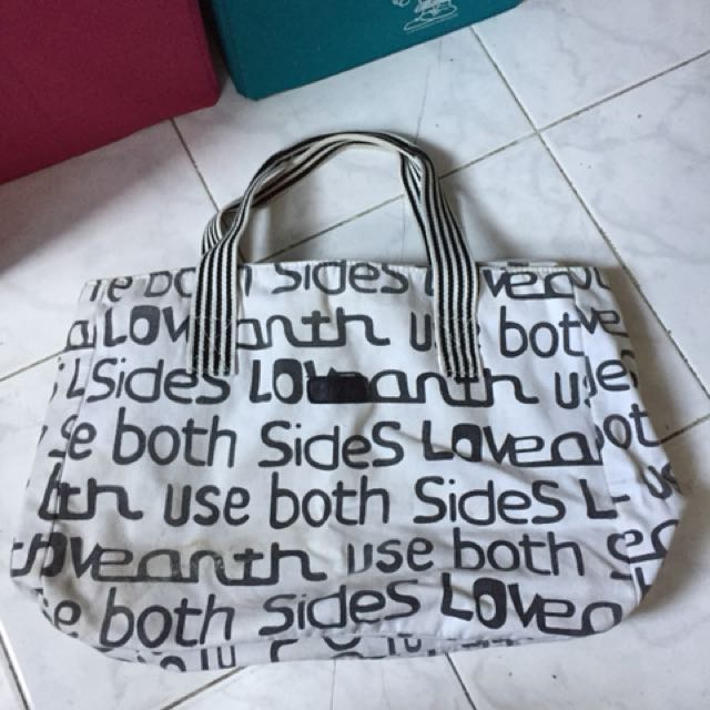 Folded and Hung Canvass Bag