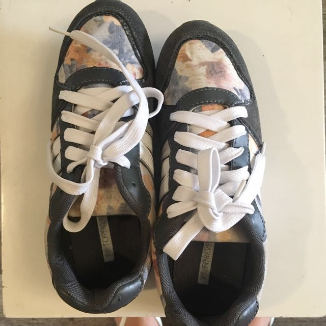 Forever 21 Floral Running Shoes