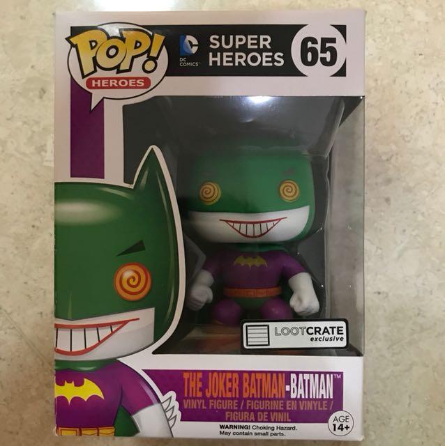 Funko Pop the joker batman-batman (lootcrate exclusive) box damage