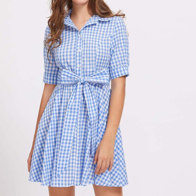 Gingham dress 6 8