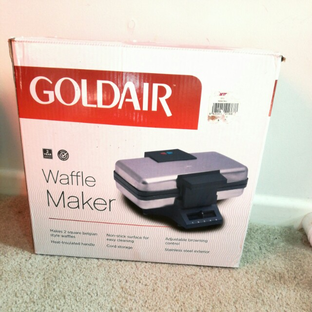 Gold air waffle maker
