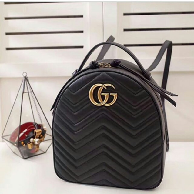 4e27af57e3 Restocked !GUCCI GG Marmont backpack💕