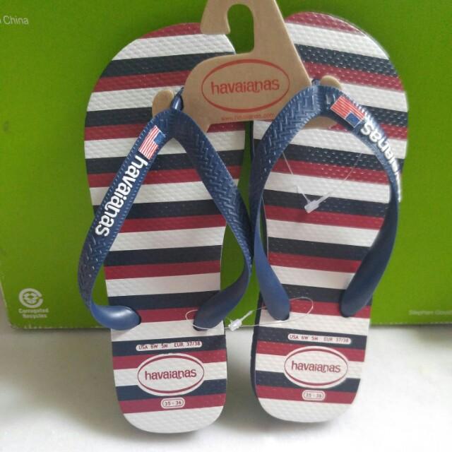 8950c8590219f Havaianas Top USA Stripe Navy Blue Flip Flop (Unisex)