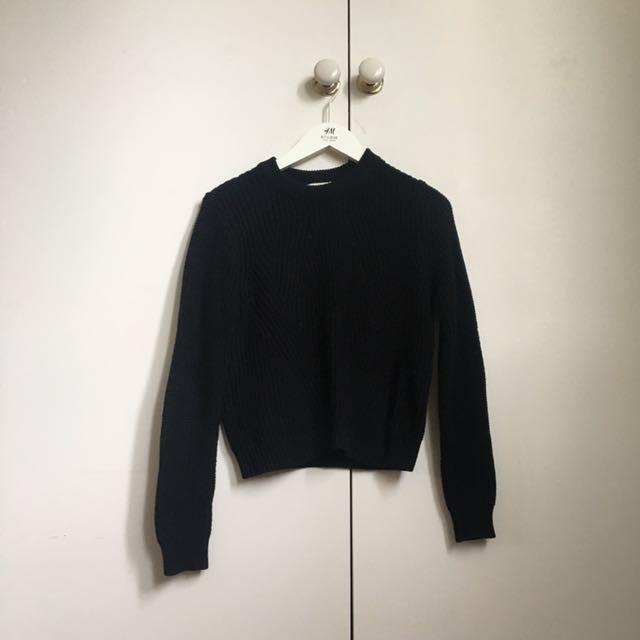 H&M Black Knit Jumper XS