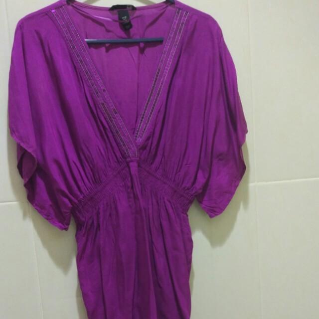 H&M purple top