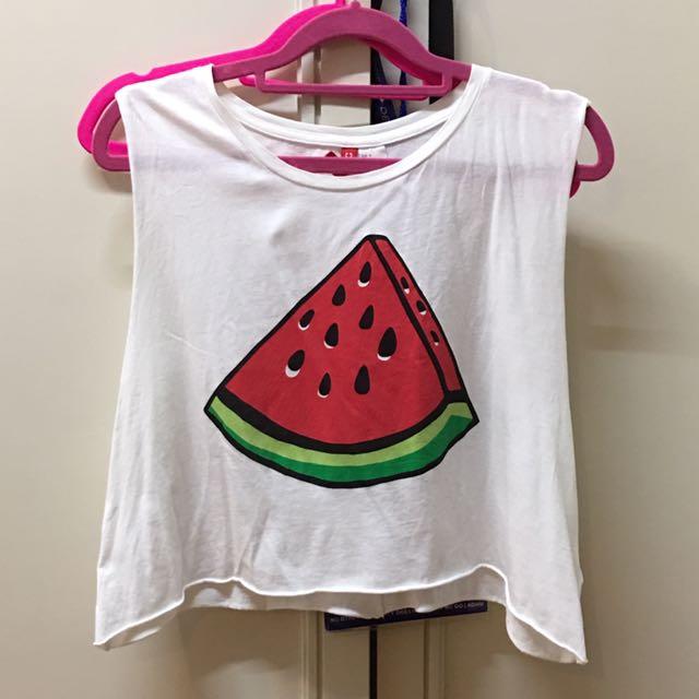 H&M watermelon muscle tank size M
