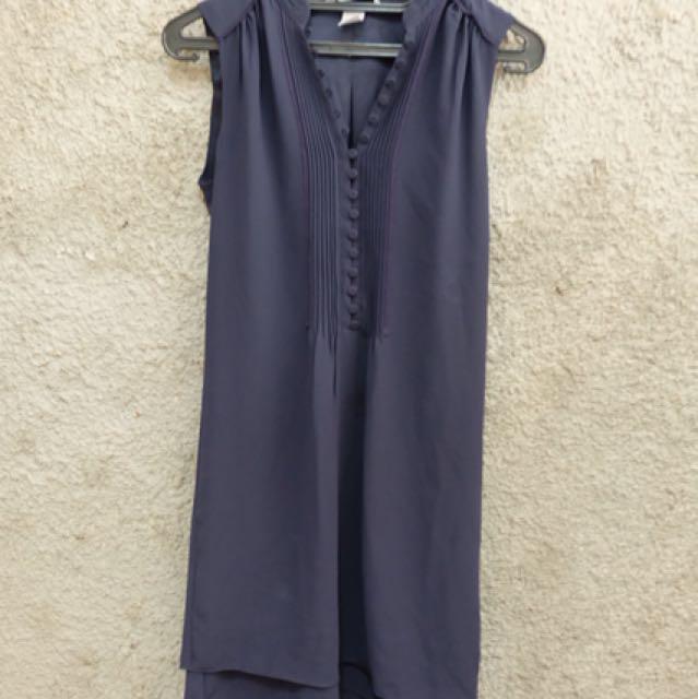 Hnm mini dress navy