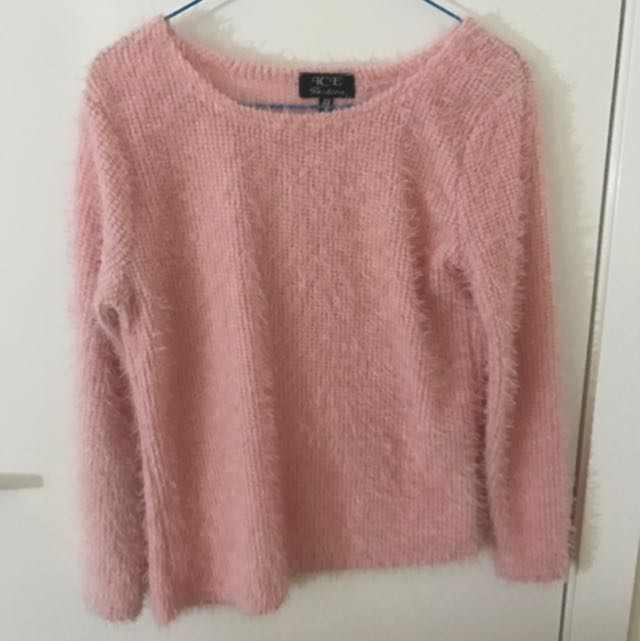 ICE - Pink Fluffy Jumper