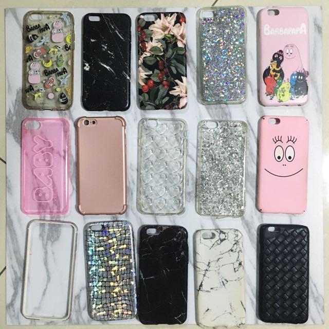 iPhone6/6s 手機殼 泡泡先生 大理石 亮片 皮革編織 愛心