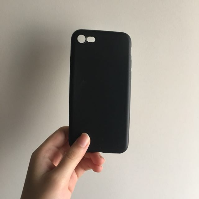 iPhone 7 full black rubber case