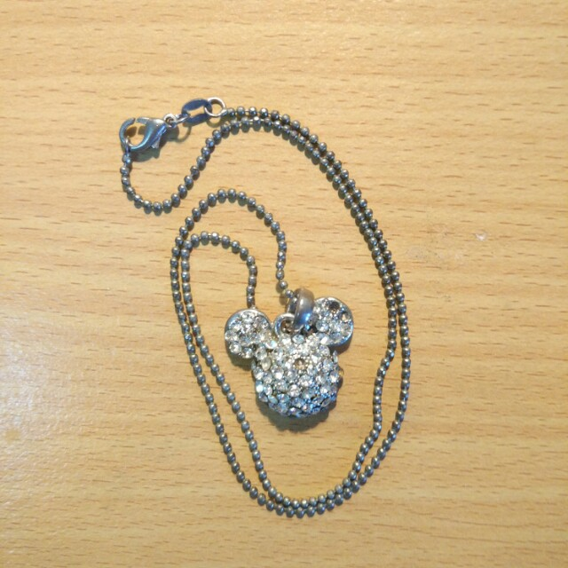 Kalung necklace disney mickey bling