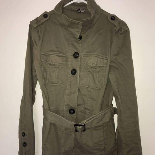 Khaki Jacket H&M Size 40
