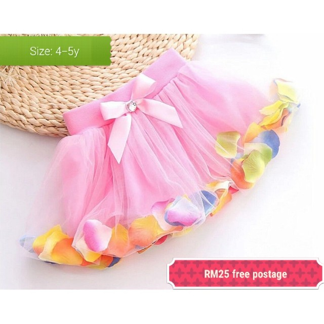Kids girl pink tutu skirt