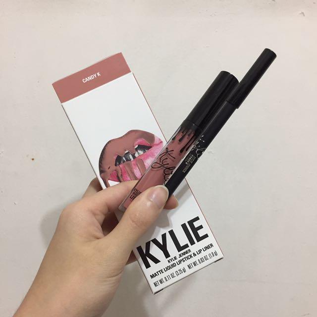 [只用一次]正品Kylie Cosmetics 唇膏唇筆組 Kylie Lip Kits Candy K