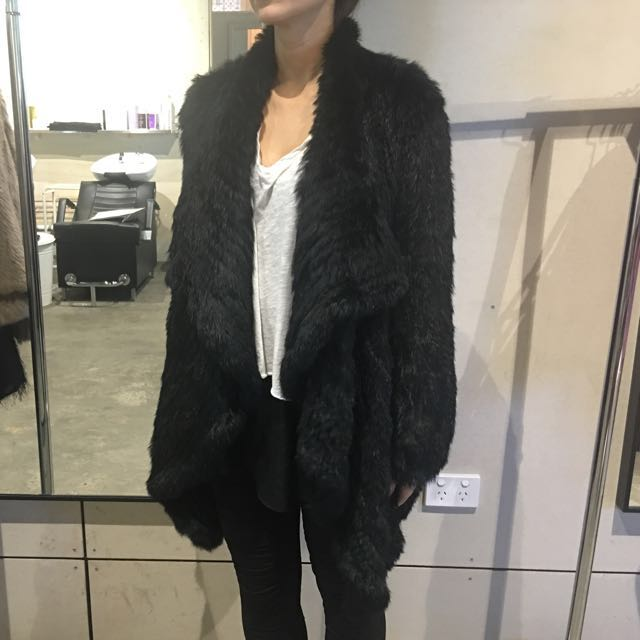 LAB Rabbit fur jacket - one size
