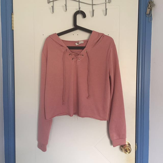 Lace Up Sweater (L)