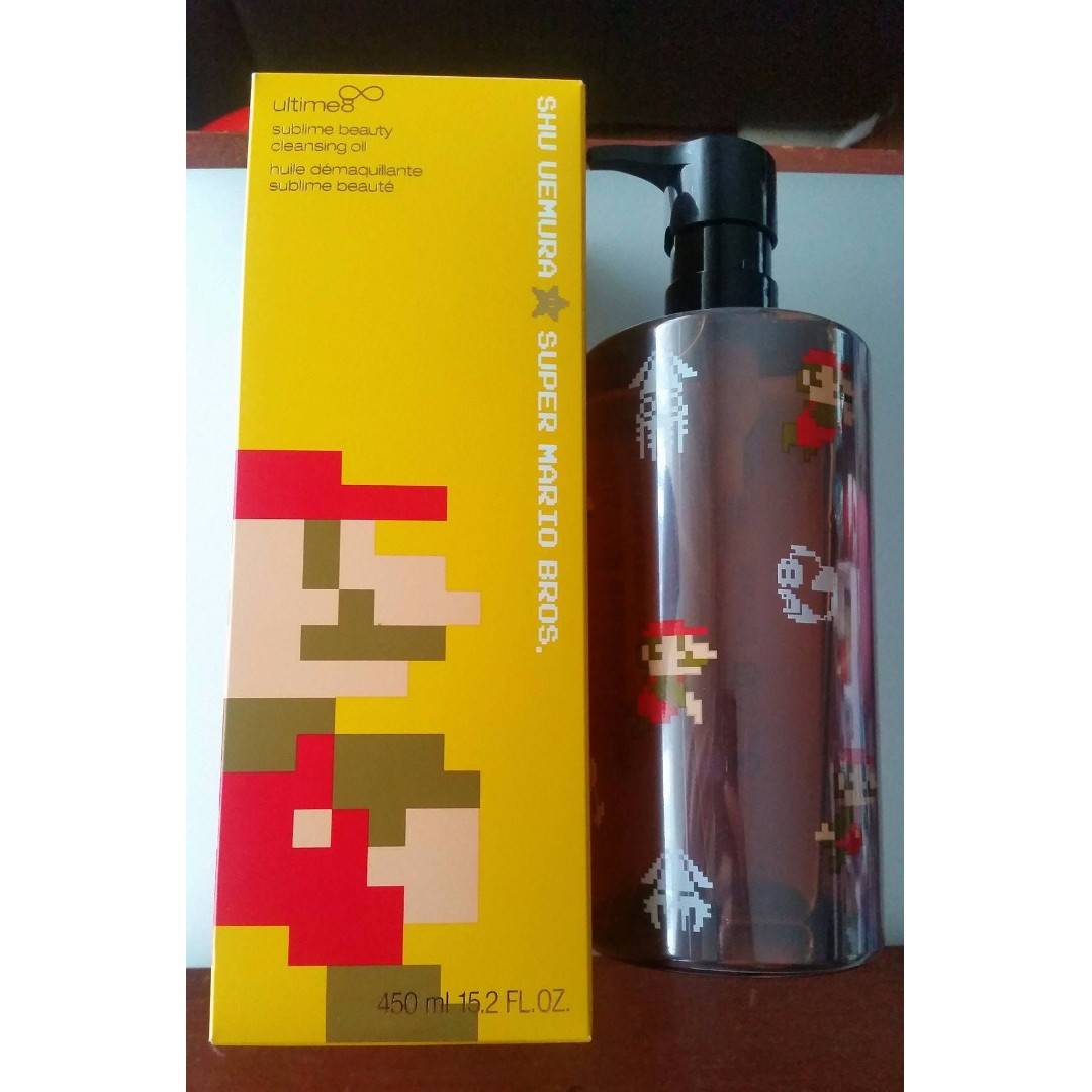 LIMITED Edition Shu Uemura Super Mario Bros Ultime8 Cleansing Oil