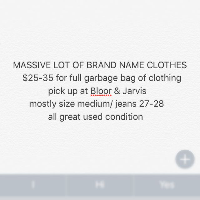 Lot of brand name/used clothing