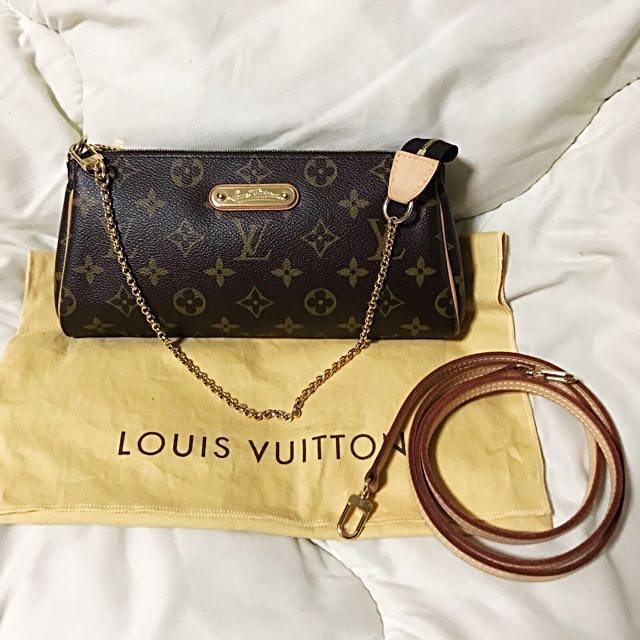 ea3568d2f Louis Vuitton LV Eva Monogram Canvas Clutch Hand Bag, Luxury, Bags &  Wallets on Carousell
