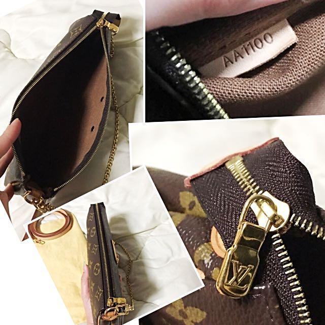 6c31e4eb63f11 Louis Vuitton LV Eva Monogram Canvas Clutch Hand Bag