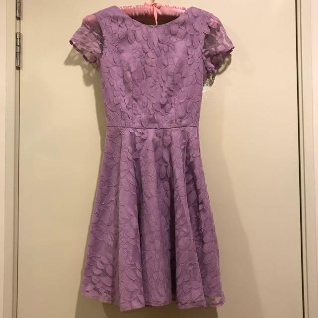 Love Bonito Lavender Purple Lace Dress XS