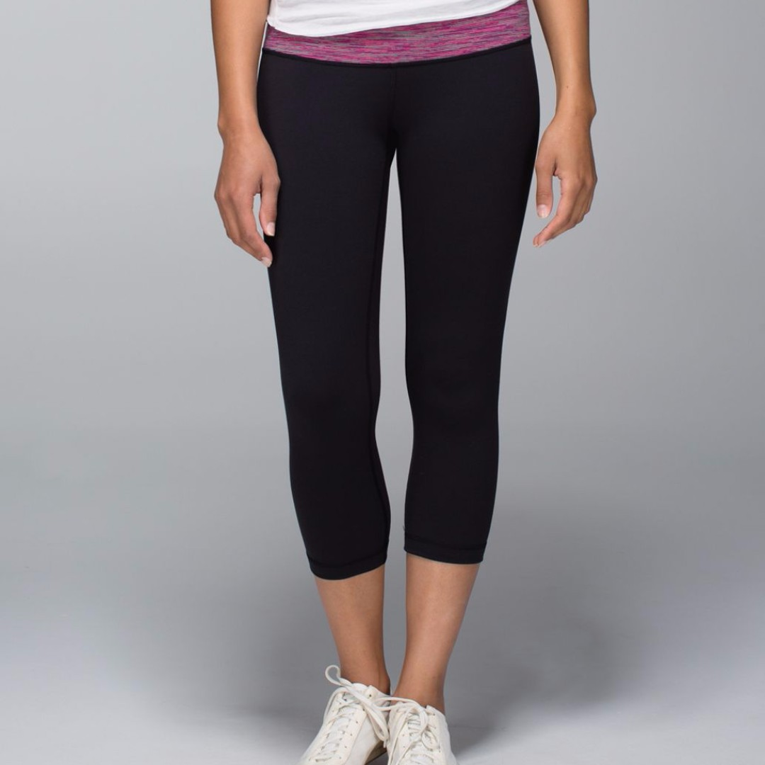 9e7043816cdcb Lululemon Wunder Under Crop *Full-On Luon Size 6, Sports, Sports Apparel on  Carousell