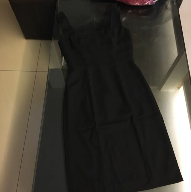 Mango black dress