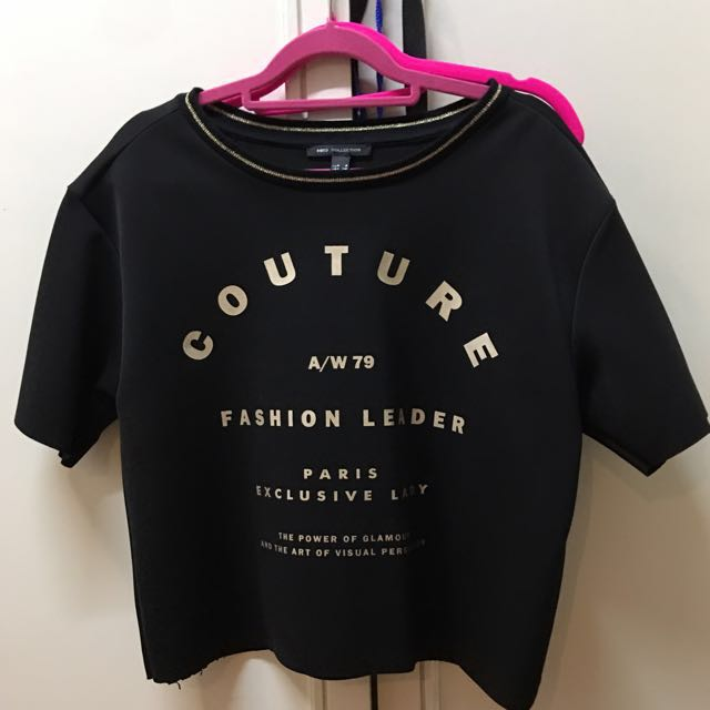 MANGO black shirt (super nice quality) size M