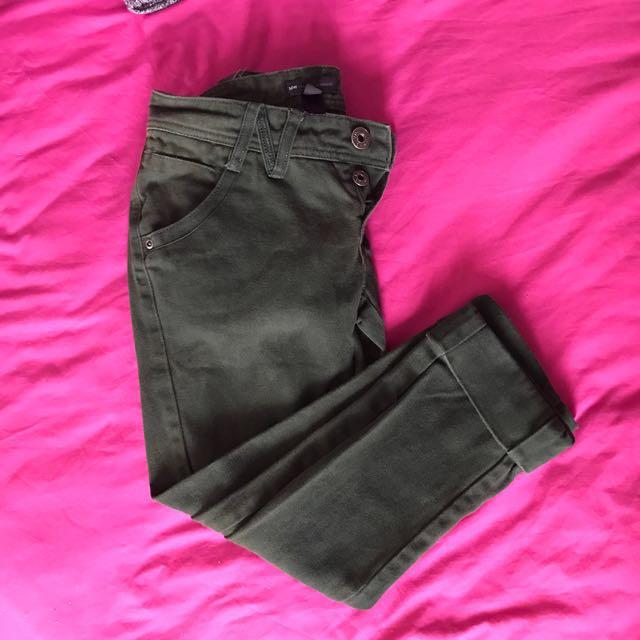 Mango MNG dark green jeans 6