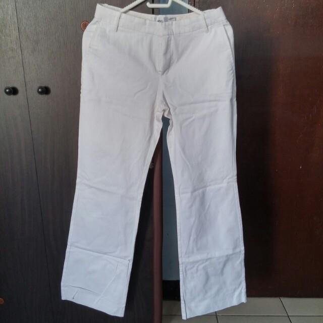 Mango White Pants