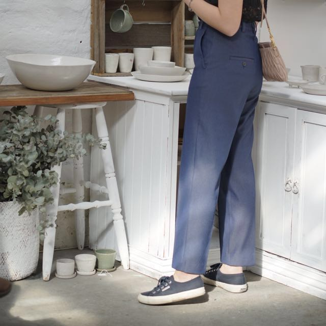 Mango/MNG blue trousers// culottes