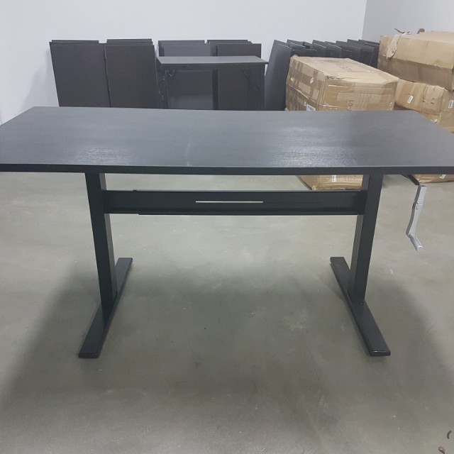 Manual Standing Desk Table   Adjustable Height, Hand Crank, Furniture,  Tables U0026 Chairs On Carousell