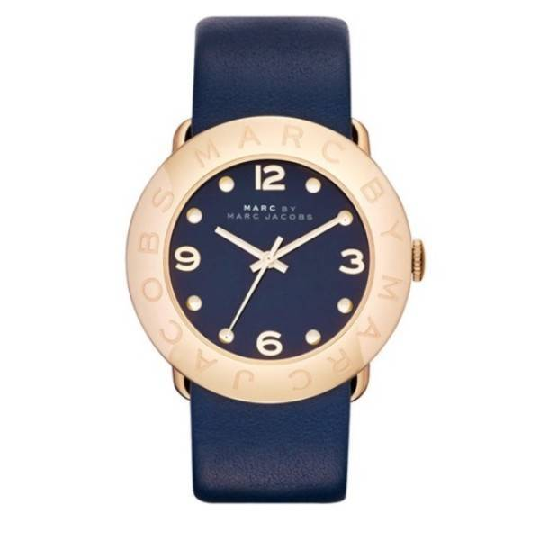 Marc By Marc Jacobs Amy MBM1224 Blue Dial&Leather Band Ladies