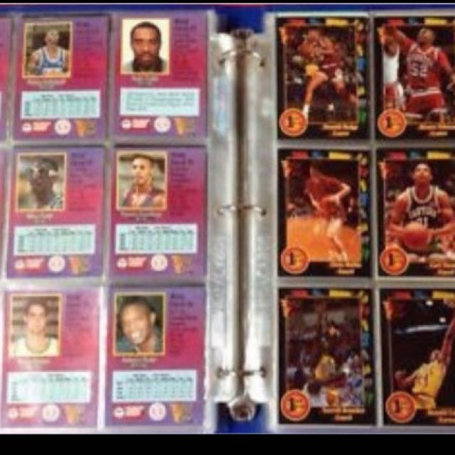 MARKED DOWN FOR QUICK SALE - MINT CONDITION NBA CARDS & FOLDER