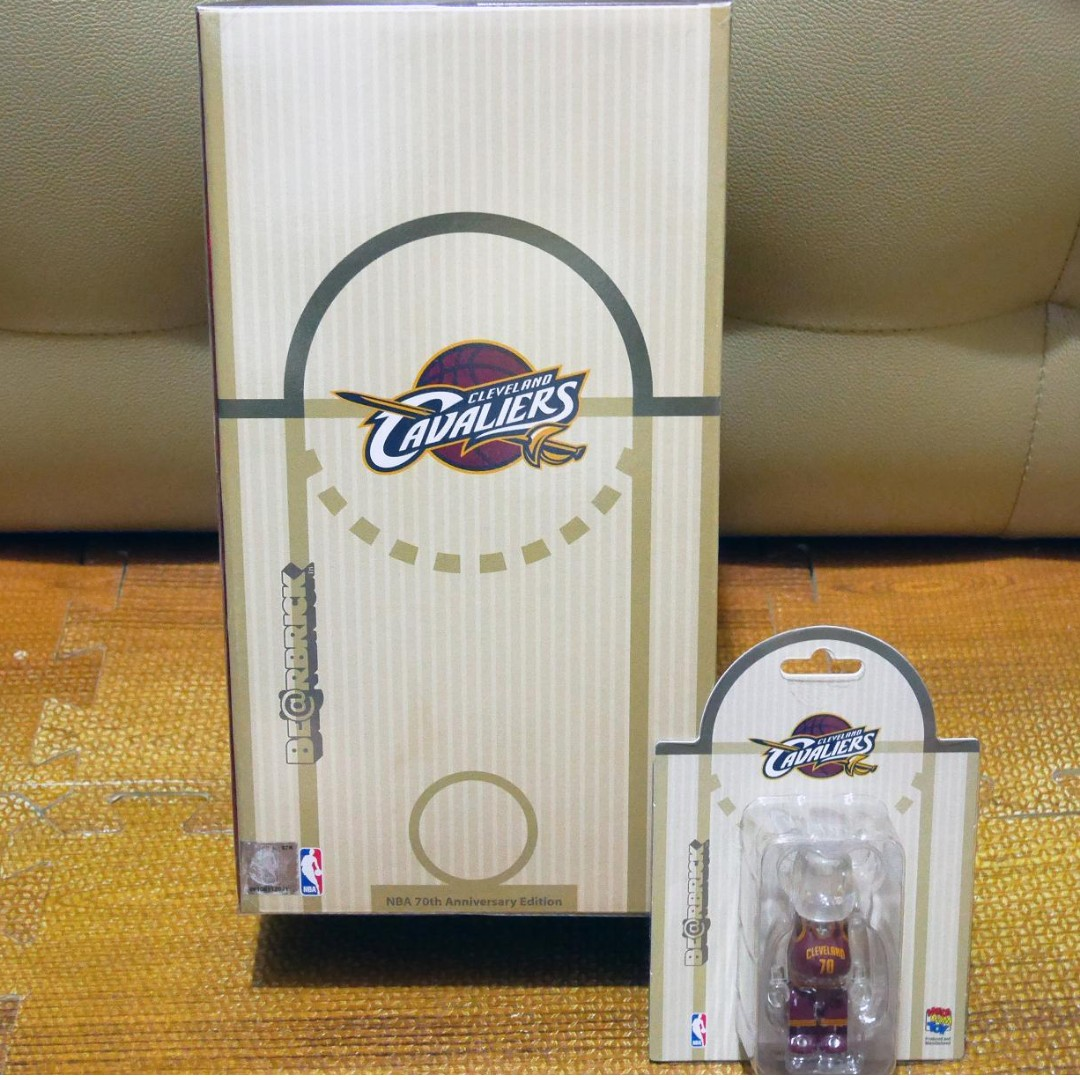 Medicom Toy 2017 x Milk x NBA Cavaliers 100% & 400% Bearbrick Set