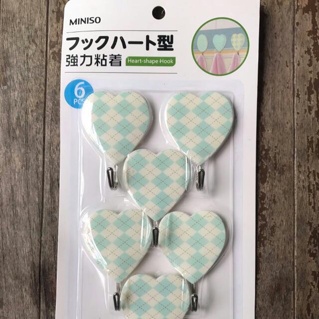 MINISO Heart Shape Hook Mint